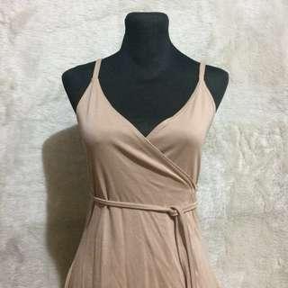 REPRICED: Nude wrap dress