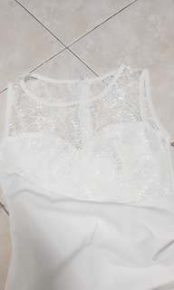 Lace white casual wear