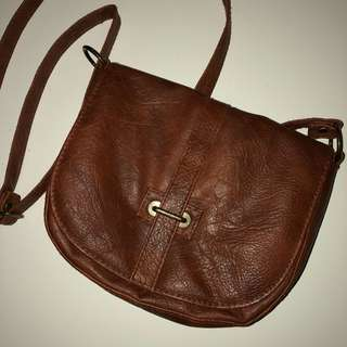 Brown Leather Body Bag