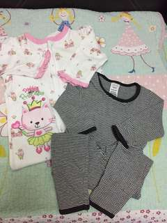 2 pc Baby sleepsuit 6-12m