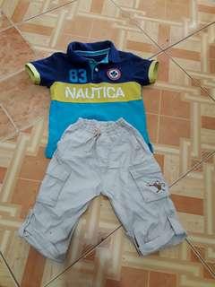 Autentic Nautica t shirt and pant( no brand)