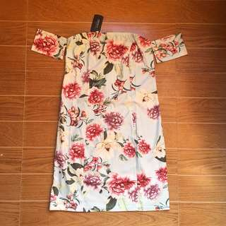 Forever 21 Lightblue Floral Dress (Bnew with TAG)