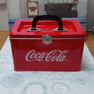 可口可樂手提鐵盒/存錢桶