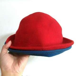 🚚 二入造型表演帽組 公主帽 圓帽 (藍+紅)