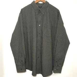 古著格紋襯衫 男XL