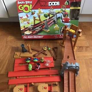 Angry Birds Go Telepods Track Pig Rock Raceway