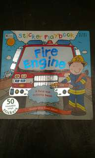 Sticker playbook activity fire engine