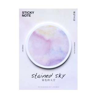 BN: Sticky Notes [Stained Sky / Blue, Purple, Pink]