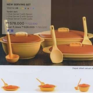 NEW SERVING SET TWIN TULIPWARE MANGKOK PIRING SAJI