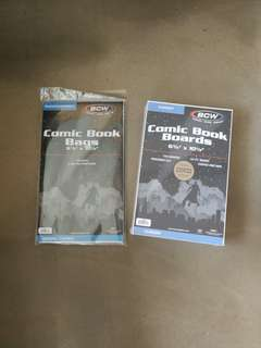 BCW Comic Book Bags & Boards 6 7/8x10 1/2, in 100 pack