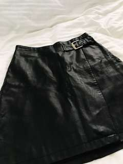Black leather skirt from Portmans