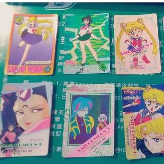 可交換卡片唷 美少女戰士 舊版卡片 正版 1993-1995 萬代BANDAI