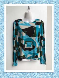 Simona Geometric Print top