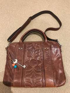 Fossil preloved leather crossbody