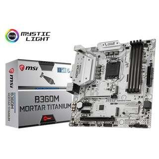 MSI B360M MORTAR TITANIUM mATX Motherboard