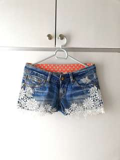 EMBROIDED FLORAL SHORTS