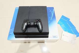 Sony ps4 500 GB CUH 1206A jet black second mulus 99% like NEW