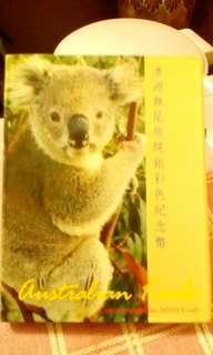 澳洲無尾熊銀質彩色紀念幣