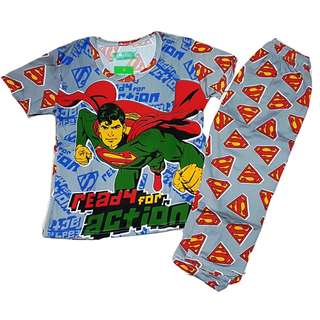 Superman Ready for Action Pajama Terno for Kids