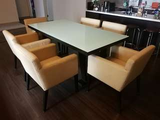 Dining chair set for sale. Table not included.