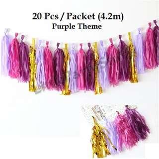 Paper Tassels (Purple theme)