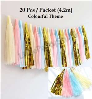 Paper Tassels (Colourful theme)