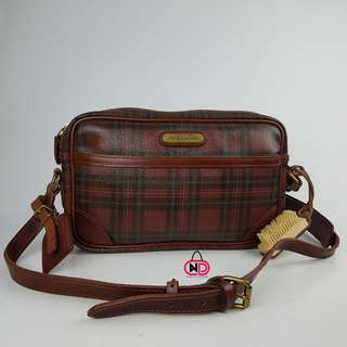 AUTHENTIC POLO RALPH LAUREN PLAID  CROSSBODY