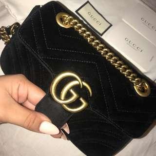 ➰Gucci Velvet Marmont Bag
