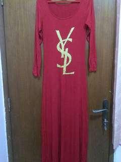 Dress maroon syl