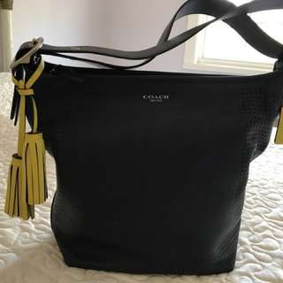 Authentic Coach Legacy Handbag in Navy