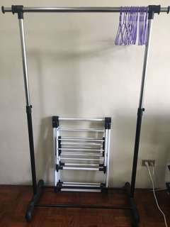 Rush Sale! Clothing and Laundry Racks w/ Free Purple Hangers