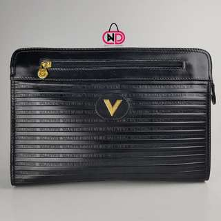 AUTHENTIC MARIO VALENTINO LEATHER CLUTCHBAG