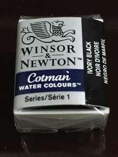 Winsor & Netwon Cotman Watercolour Half Pan (Ivory Black)