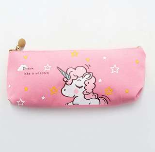 BN Unicorn Stationery Bag - Light Pink