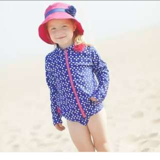 SWIMZIP RASHGUARD SET LONG SLEEVE 18-24M (FITS TIL 2YO) VERY STRETCHY