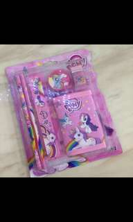 Pony, unicorn wallet stationary set- goodies bag, goody bag gift, goodie bag packages, door gift