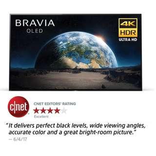 Sony XBR65A1E 65-Inch 4K Ultra HD Smart BRAVIA OLED TV (2017 Model),
