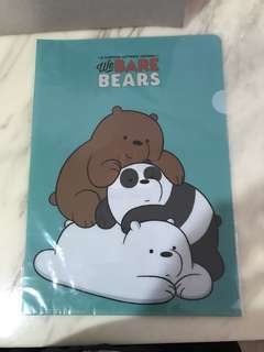 WE BARE BEARS PLASTIC FILE