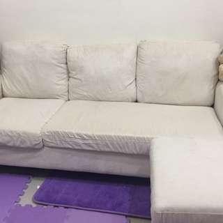 米白二手沙發