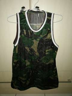 Net Shirt Army + Army Hat (Free Ongkir)