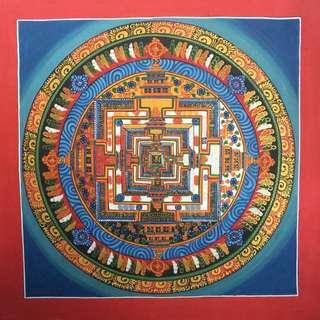 Kalachakra mandala hand make from Nepal