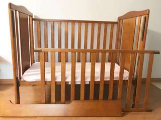 Sturdy Baby Cot ❤️ (convertible to junior bed) Laminated Wood