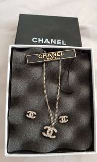 Chanel earring and necklace