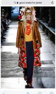 """REPRICED!! """"Gucci"""" inspired snake fur coat (hand painted)"""