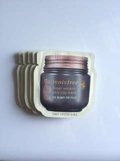 Innisfree super volcanic clay mask sample take all 40k