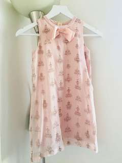 Peppermint Blush dress with chandelier prints