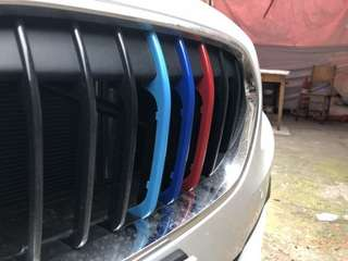 BMW Triple M Coloured Kidney Grille Clip On