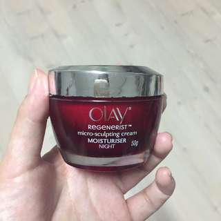 Olay microsculpting night moisturizer