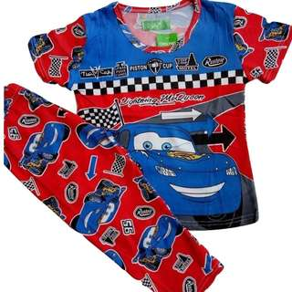 Car Design Pajama Termo for Kids