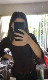 dark purple corset top. Size 6